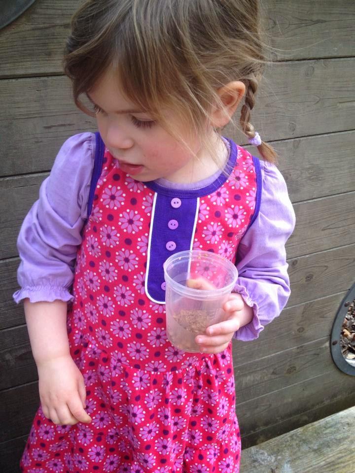 lillestoff Kinderstoff Dotties Red GOTS Biostoff