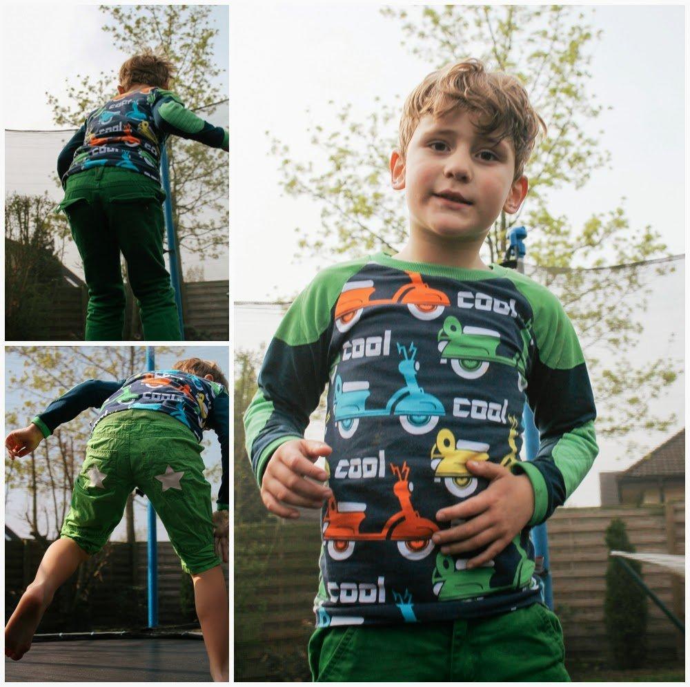 lillestoff Kinderstoff Cool Scooter GOTS Biostoff