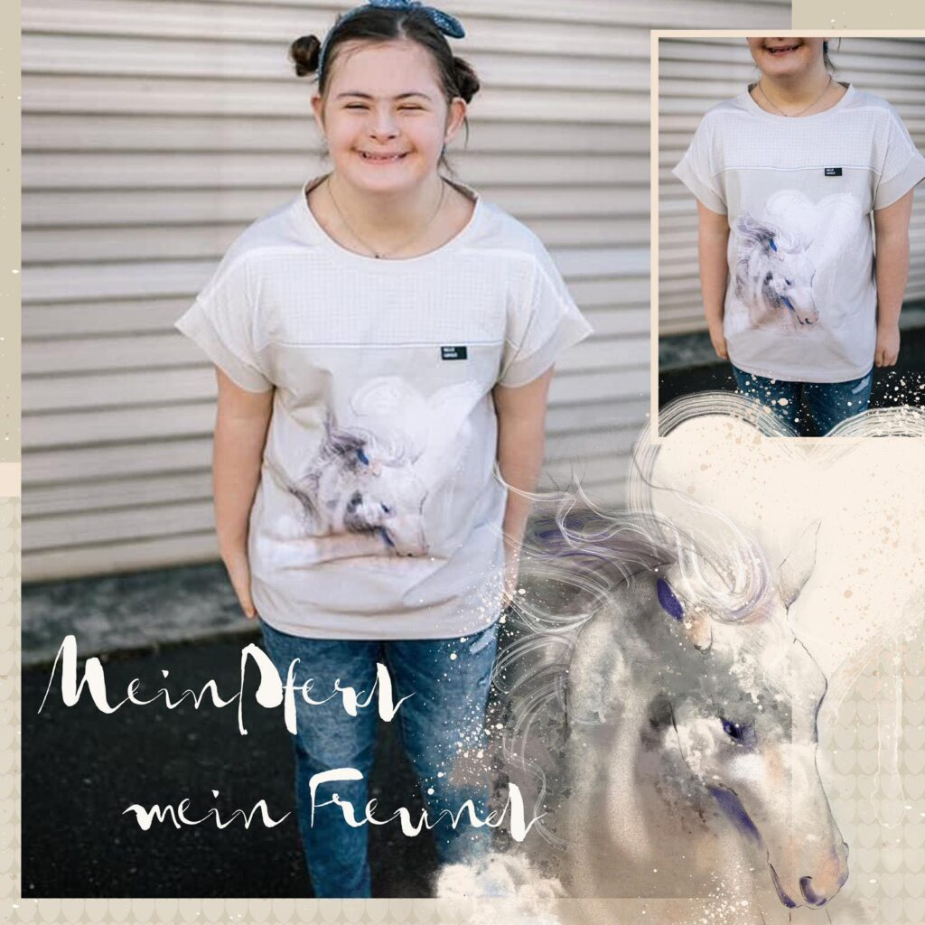 Stoff Mein Pferd mein Freund von Tante Gisi