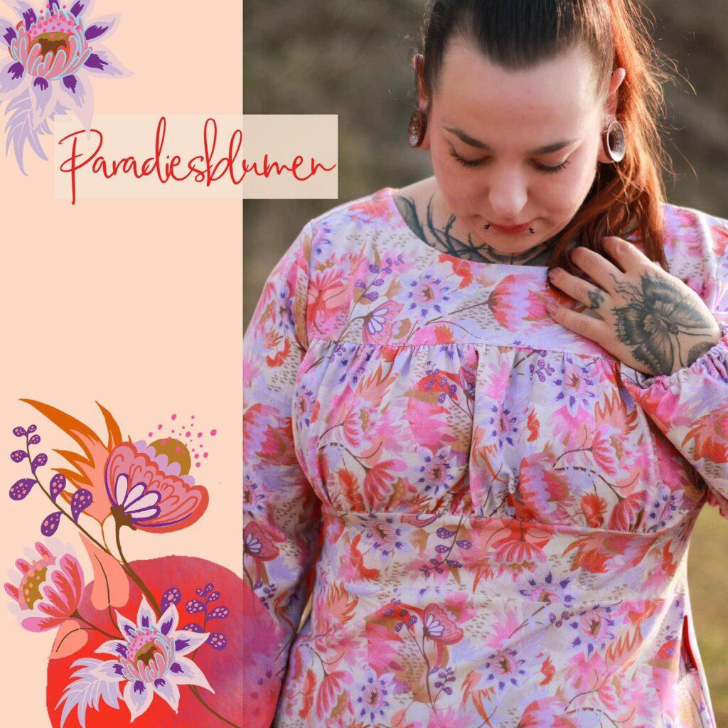 Stoff Paradiesblumen von Tante Gisi