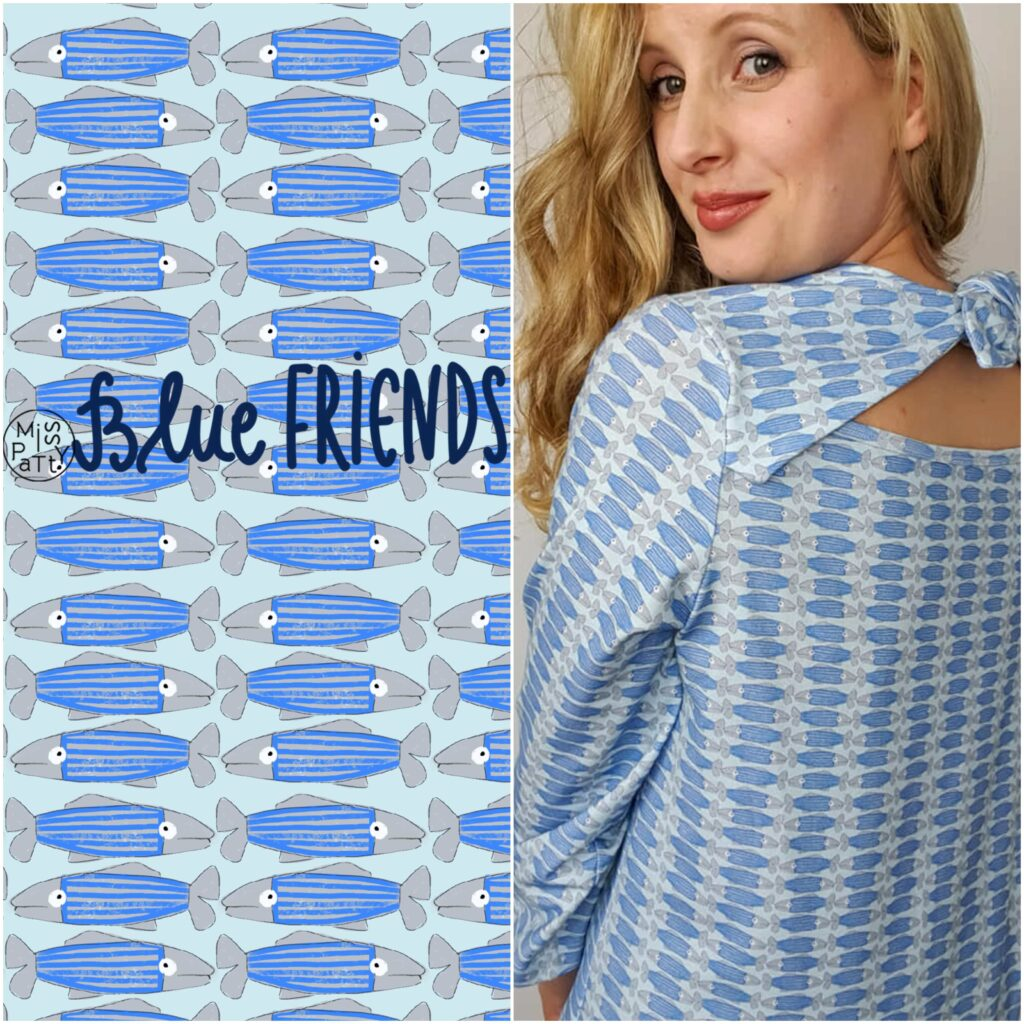 Stoff Blue Friends von Miss Patty
