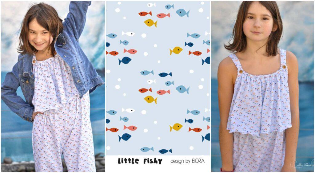 Stoff little fishy von BORA